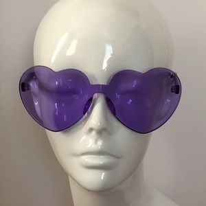 Heart shape clear sunglasses